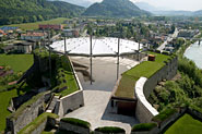 Retractable roof, fortress Kufstein