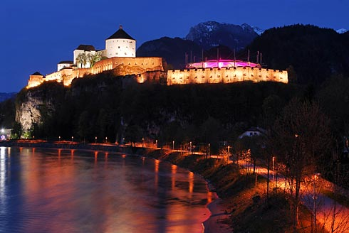 illuminated fortress Kufstein, convertible roof