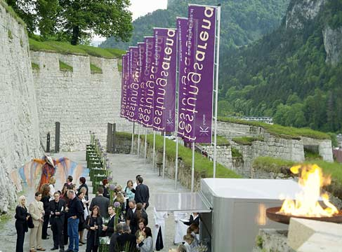 gala inauguration convertible roof fortress Kufstein