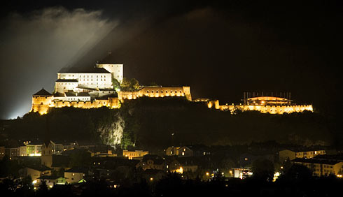 illuminated fortress Kufstein, retractable roof