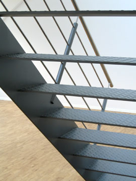 detail staircase made of steel